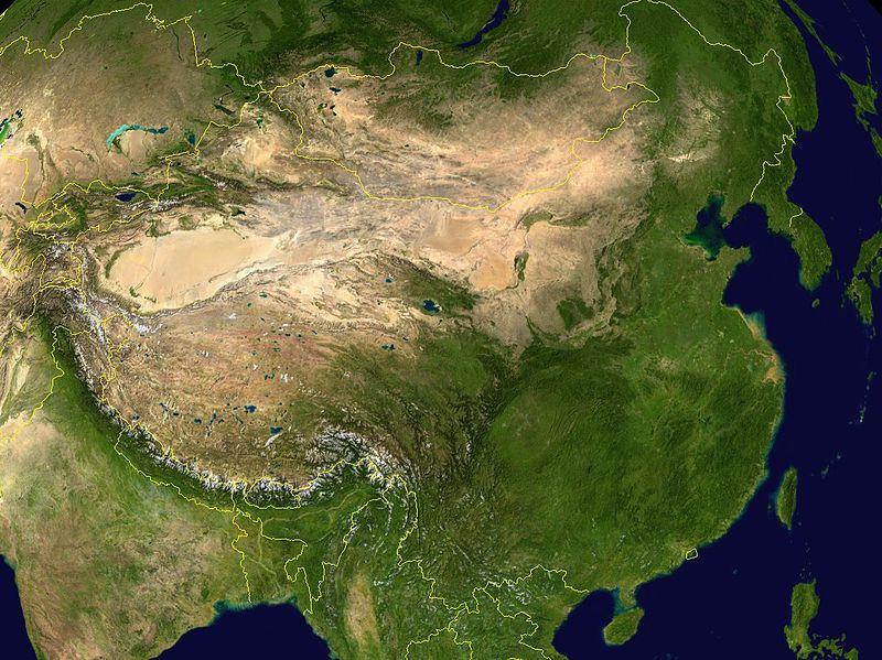 Çin'de Gezilecek Yerler - Çin Uydu Görüntüsü