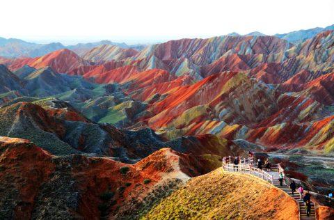 Çin'de Gezilecek Yerler - Gökkuşağı Dağları, Zhangye