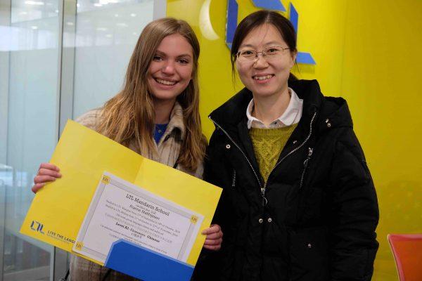 Öğrencimiz Rianne ve Öğretmeni Jacqueline