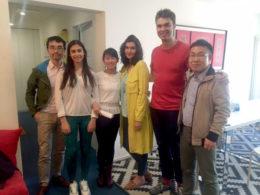 Sofia ile Alwin öğretmenlerimiz öğrencileri ile beraber