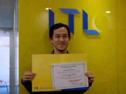 Ryosuke ve LTL Dil Sertifikası
