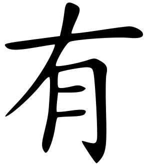 Sık kullanılan Çince karakterler 有