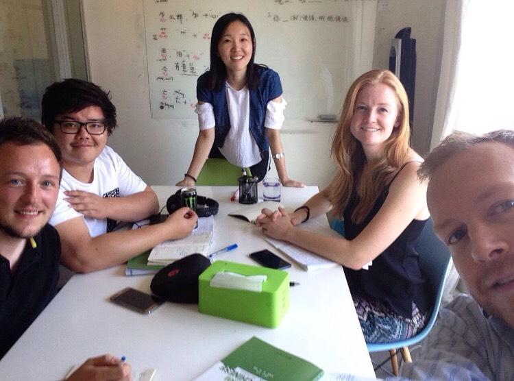 Pekin'de Çince Öğrenin-Lucy öğretmenimiz ile öğrencileri
