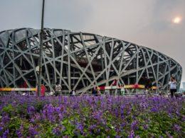 2008 Pekin Olimpiyat Oyunlarından Kuş Yuvası Stadyumu