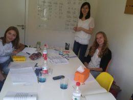 Pekin'de Jacqueline öğretmenimiz ile küçük grup sınıfı