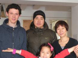 Pekin'de ev sahibi ailemiz