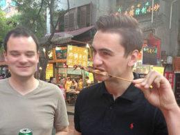 Pekin'de sokak yemeği