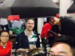 Chengde'de hep beraber akşam yemeği