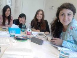 Sofia ile italyan öğrencileri