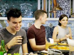 Şanghay'da akşam yemeği