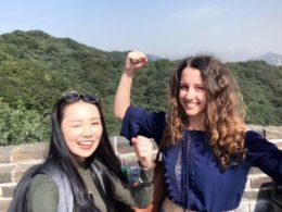 Çin Seddi'nde Marie Jasmine