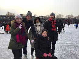 Pekin'de buz pateni