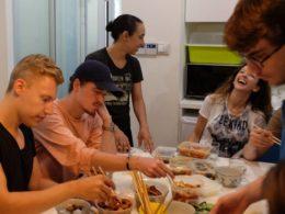 Şanghay'da öğle yemeği