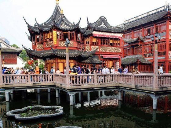 Şanghay'da Yu Yuan Bahçeleri